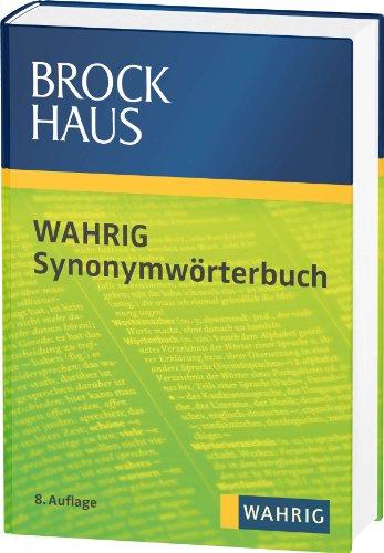 Brockhaus Wahrig Synonymwörterbuch