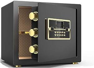 JJYPY Digital Security Safe Box, Fingerprint Biometric Wall Safe Lock Box Cash Strongbox Wall-in Style with Number Keys Em...