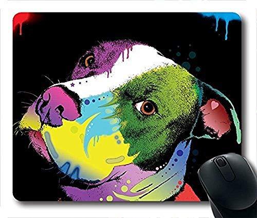 Dripful Pitbull American Bulldog Print Alfombrilla
