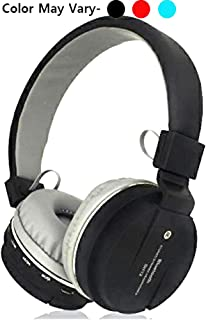 SNEHI® Wireless Headset Sh12 Wireless Bluetooth Headphone with FM and SD Card Slot Best Qulaity. (Black)