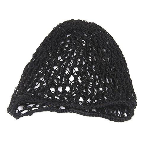 Gazechimp Femme Hairnet Rayonne Doux Bandeau Crochet Net Cheveux Snood Mode Filles - Noir