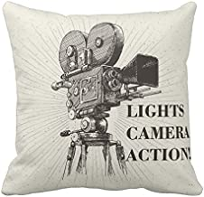 Kissenday 18×18 Inch Lights Camera Action Director Motion Cotton Polyester..