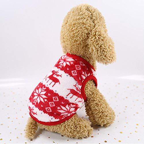 Vêtements en peluche chaud pour animaux de compagnie pour petits chiens Chats Manteau doux en molleton pour chien Manteau Jacket Vêtements de chiot Costumes Chihuahua Carlin Bulldog Costume, 13, XS
