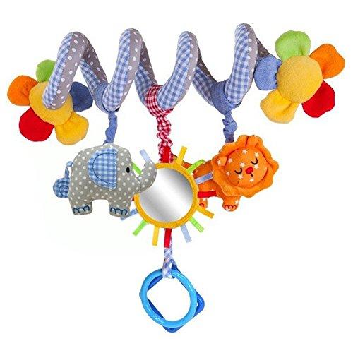 GZQES Juguete Colgantes Espiral del Animales para Cochecito,Cama, Cuna a Bebe,, Juguetes para Bebés y Primera Infancia,Colgantes para Cochecitos con Multicolor. (Estilo C)