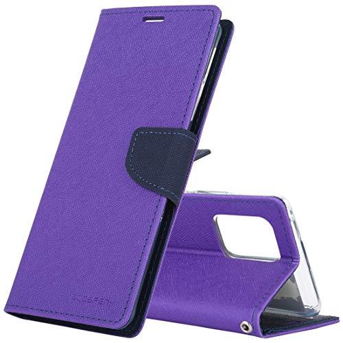 YDYX AYYD for Samsung Galaxy S6 Lite Neumático Textura TPU + PC Funda a Prueba de Golpes, con Tenedor y Bandeja de Pluma (Color : Purple)