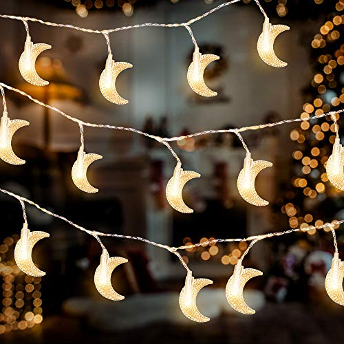 AceList 40 LED Moon String Lights for Home Decoration Outdoor Gardens Wedding Party Holiday Decor