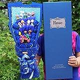 LoveTapestry Cartoon Snoopy Puppe Plüschtier, Stitch Bouquet Künstliche Kunstblumen, Graduation...