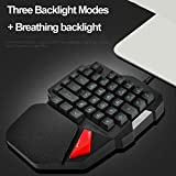 ELECTROPRIME Mini Gaming Keyboard Mechanical 38 Keys Keypad Braided Wired Single-Handed 5V B1
