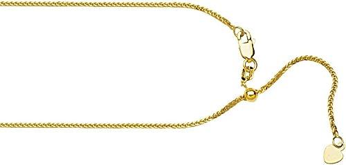 10 Gelb Gold verstellbar 1  quadratisch Weißn Kette Halskette Hummer Claw Schlie g 56cm