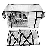 【最新モデル・劣化防止】エアコン室外機カバー (2個入り) 室外機保護カバー 室外機日よけ 日・雨・雪・風・ホコリよけ 遮熱保護 室外機を守る 省エネ 簡単脱着 室外機カバー 光反射 保温防雨カバ ー 家庭用 業務用(125cm×35cm) (2個入り)