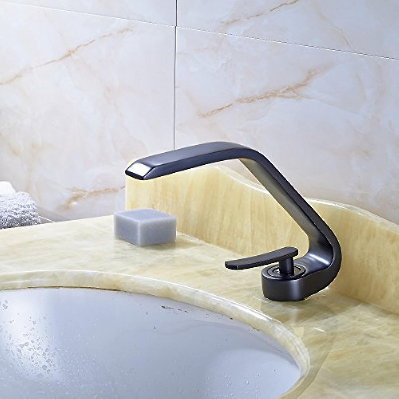 Maifeini l Kupfer Badezimmer Waschbecken Serie Mischbatterien Messing Griff Ein Deck, Tippen Sie Auf