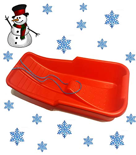 Snow Sledge/Sled Red Toboggan (Made In Uk)