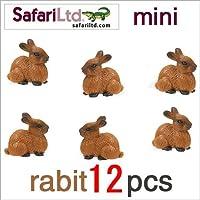 サファリ社ミニフィギュア 345422 ウサギ 12個セット