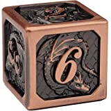 DND Metal Dice Set by Dragon Nest Store | Polyhedral Dice with Dragon | Ideal for Dungeons and Dragons, RPG, Board and Table Game
