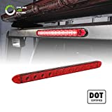 16' 11 Red LED Trailer Light Bar [DOT Compliant] [IP65 Waterproof] [Park/Brake/Turn Signal] Running Marker ID Rear Clearance Trailer Tail Light Bar for 80' Motorcycle Utility Marine Boat Trailers