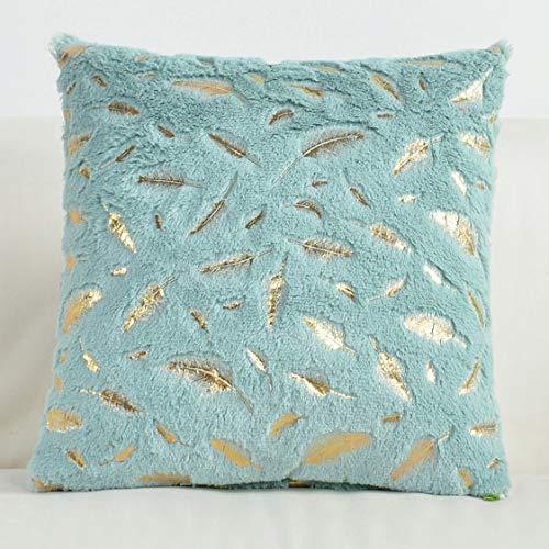 xjm Cojines de Terciopelo Cubierta mullida Almohada Amortiguador de la decoración Decorativo sólido for la Funda de Almohada del sofá Cojines Pillowcover (Color : 10322 006)