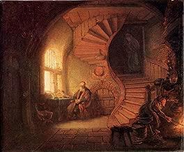 Philosopher in Meditation by Rembrandt Van Rijn - 20