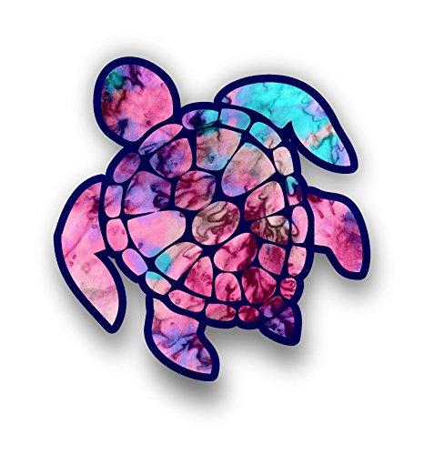 """3インチSea Turtleステッカーノートパソコンのcupstumblers Cars and Trucks Any滑らかな表面 ピンク 3""""sea turtleの詳細を見る"""
