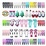 Pince à Cheveux, INTVN Métal Barrette Cheveux Accessoires Hair Clips pour Enfant Bébé Fille Femmes, multicolores, 84 Pièces