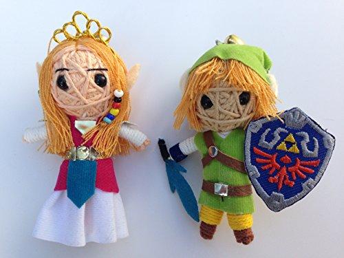 Princess Zelda & Link Set of 2 String Dolls from Legend of Zelda: Skyward Sword Voodoo String Doll Keychain link