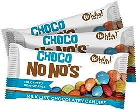 No Whey Foods - Choco No No's (3 Pack) - Vegan Chocolate Candy - Dairy Free, Peanut Free, Nut Free, Soy Free, Gluten Free