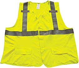 "Ironwear 1266FR-L-03-LG ANSI Class 2 Modacrylic SAFETY Vest with Velcro Closure & 2"" Silver Tape, Large"