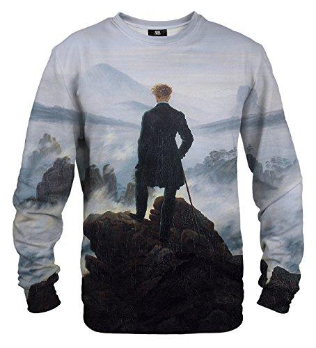 Mr. Gugu & Miss Go Herren Damen Bedrucktes Sweatshirt Wanderer (XXL)
