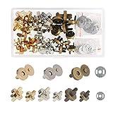 Broches Magnéticos,ZERHOK,30 sets,Cierre magnetico bolso,Broche Imán metálicos para artesanía y amas en hacer bolso manual y costurar chaqueta o abrigo.
