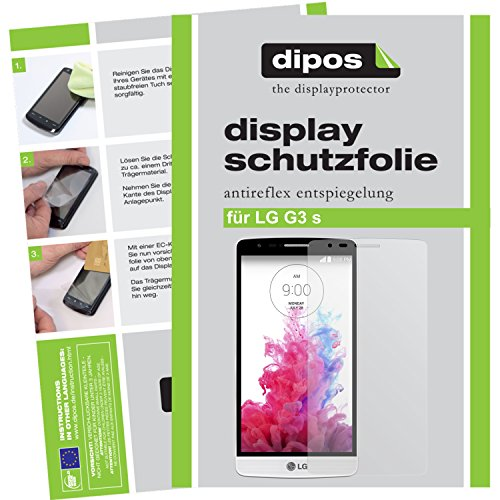 dipos I 2X Schutzfolie matt kompatibel mit LG G3 S Folie Bildschirmschutzfolie