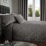 Serene Tagesdecke, 55prozent Baumwolle, 45prozent Polyester, Schiefer, 240x 220cm