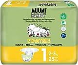 Pañales ecológicos Muumi Baby para recién nacidos, talla