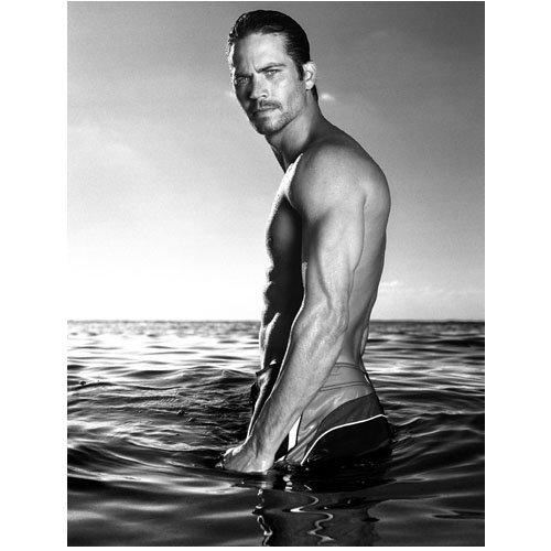 Paul Walker 8x10 Photo Fast & Furious Into the Blue black and white