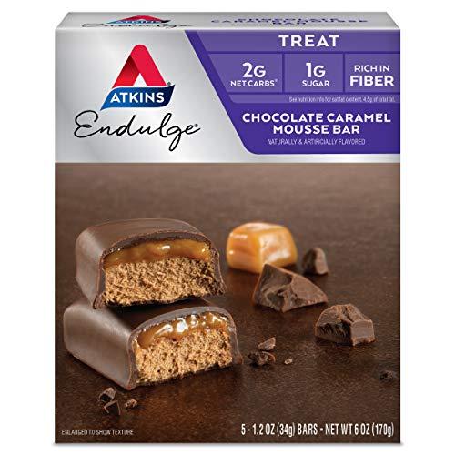 海外直送品 Atkins Endulge Bars Chocolate Caramel Mousse, Chocolate Caramel Mousse 5/6.0 oz