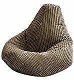 Jumbo Cord Beanbag Chair, Large Bean Bags in Plush Jumbo Cord High back Beanbags, Lounger, Jumbo Cord Beanbags, Recliner Highback (Brown)