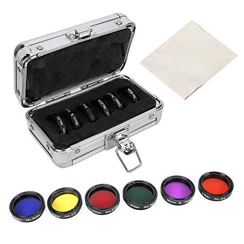GAESHOW 6 Stück 3,2 cm buntes Teleskopfilter-Set mit Aufbewahrungsbox für Teleskope, Okulare, Filter, Objektivfilter