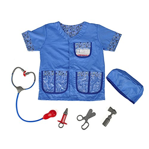 TOPTIE Kid s Veterinarian Dress Up Costumes Set  Halloween Role Play Costume for 3-6 Years Old-Blue-S