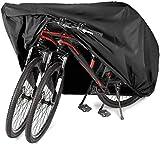 PUBAMALL Funda de Bicicleta - Resistente al Agua y Anti-UV - Cubiertas de Almacenamiento para Bicicletas de montaña y Carretera (Negro)