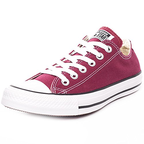 Converse Chuck Taylor All Star Canvas Low Top Sneaker, maroon ,6 mens_us/8 womens_us