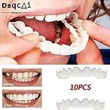 GAOWF 10 UNIDS Higiene Oral Dientes Malos Chapa De Sonrisa Herramientas De Dientes De Belleza No Tóxicas Dientes Falsos Cubierta De Ortodoncia Frenillos