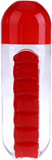 600ml Creative Pills Cup Daily Pill Box Organizer Plastic Drinking Bottles snowvirtuosau