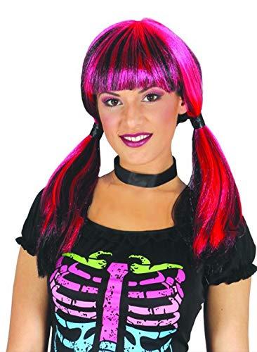 Guirca Pinke Schulmädchen Hexe Perücke für Damen