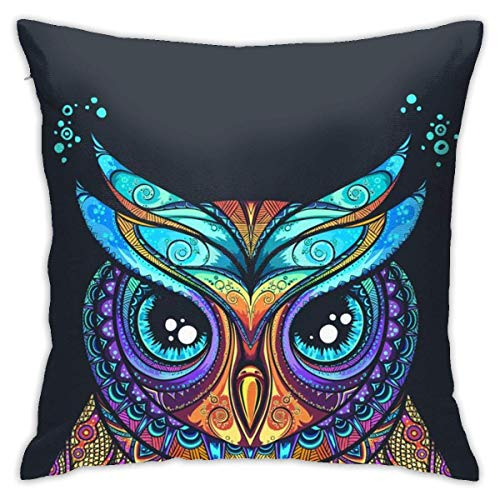Vintage Tribal Owl Square dekorative Dekokissen Kissenbezüge Geometrie Druck Home Kissenbezüge 40X40 Cmes