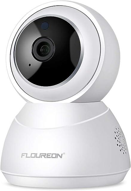 FLOUREON Cámara de IP Seguridad YI IOT Cloud Inalámbrica WiFi HD Home 1080P Cámara de Giro/inclinación/Zoom en Interiores con Visión Nocturna Audio bidireccional Cámara de Mascotas