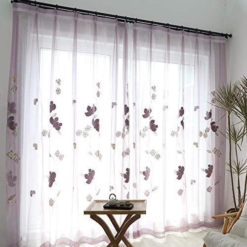 WBXZAL-Rideaux Rideau Blanc Zen Salon Rideau Broderie Rideau Rideau écran Flottant Produits,200,C