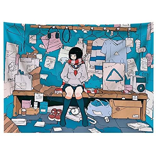 Kawaii Gioco Ragazza Fumetto arazzo testiera Arte della Parete copriletto dormitorio arazzo...