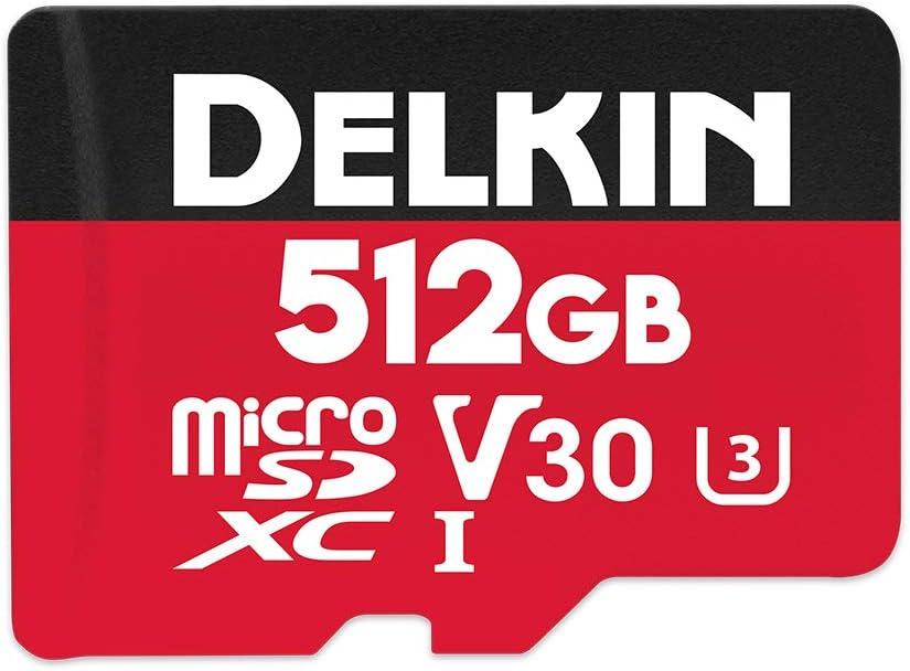 Delkin Devices 512GB Select microSDXC UHS-I (V30) Memory Card (DDMSDR500512)