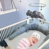 Funihut Bettumrandung Baby Nestchen Kinderbett Stoßstange Weben Bettumrandung Kantenschutz Kopfschutz für Babybett
