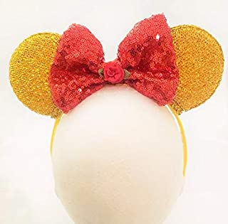 Belle Inspired Headband Beauty and Beast with The Enchanted Rose