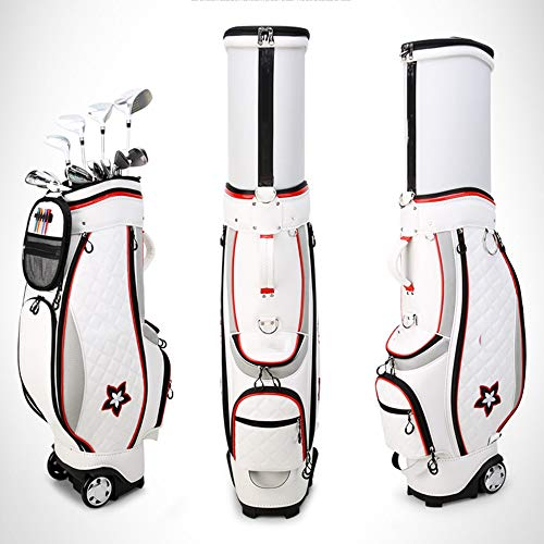 Great Deal! Golf Bag Golf Bag Nylon Golf Club Bags Lightweight Golf Trolley Bags Waterproof Golf Car...