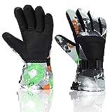 Ski Gloves, Yidomto Waterproof Warmest Winter Snow Gloves for Mens, Womens, Boys, Girls, Kids (Black-XL)